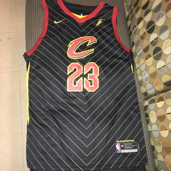 hot sale online b5bd2 bcaa3 Lebron James Cleveland Cavaliers Cavs Black jersey